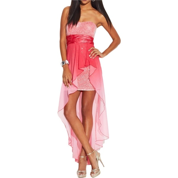 Shop Speechless Womens Juniors Semi Formal Dress Sequined Strapless