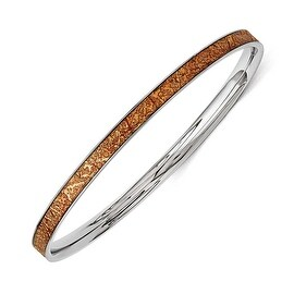 Chisel Stainless Steel Yellow Enameled Bangle