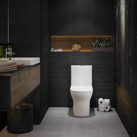 Burdon One Piece Square Toilet Dual Flush 0.8/1.28 gpf