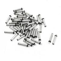 Unique Bargains 50 PCS DC Power Jack Solder Male Plug Connector 3.5mmx1.35mm Type 0.79  Long