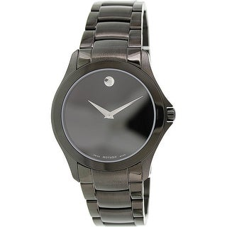 Movado Men's Museum 0606486 Black Stainless-Steel Plated Dress Watch