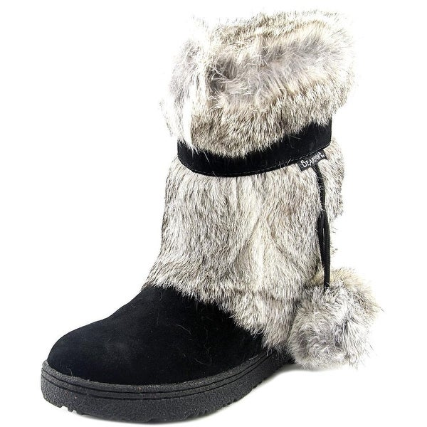 Bearpaw Tama II Women Round Toe Suede Black Winter Boot
