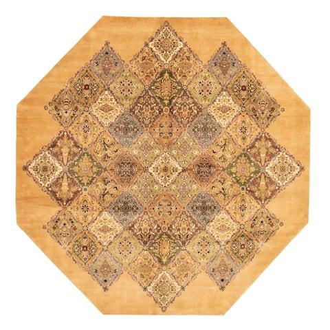 Hand-knotted Pako Persian Khaki Wool Rug