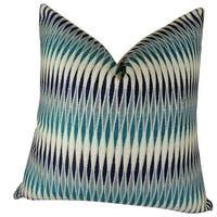 20 x 26 in. Standard Size Thames River Cobalt HandmadeThrow Pillow