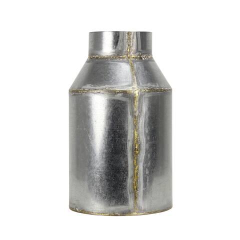 """Brewster FADX9071E Habitat Lars 12-3/4"""" Tall Large Metal Vintage Milk Jug Vase"""