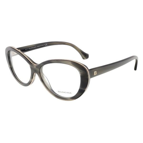 Balenciaga BA5044/V 020 Grey Horn Butterfly prescription-eyewear-frames - grey horn - 54-14-140