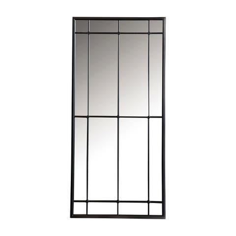 Black Rectangular Window Pane Wall Mirror
