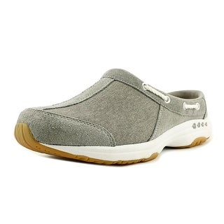Easy Spirit Travelport Women Round Toe Leather Gray Mules
