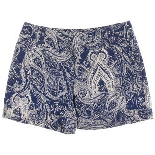 INC International Concepts Paisley Print Cuffed Shorts - 10