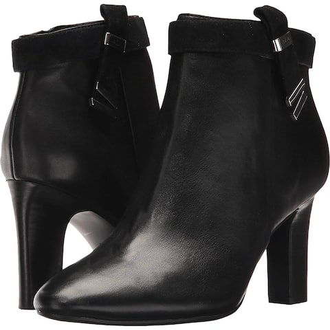 Lauren by Ralph Lauren Womens Brin Leather Closed Toe Ankle Fashion Boots