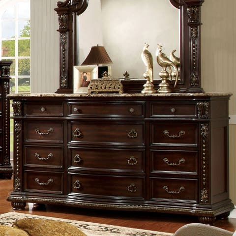 Furniture of America Dame Traditional Brown Cherry 12-drawer Dresser