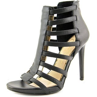 Jessica Simpson Riahn Women Open-Toe Leather Black Heels