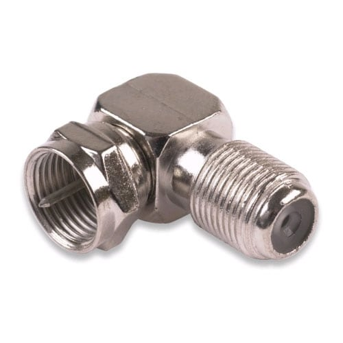 RF Industries - F-Male to F-Female Right Angle Adapter