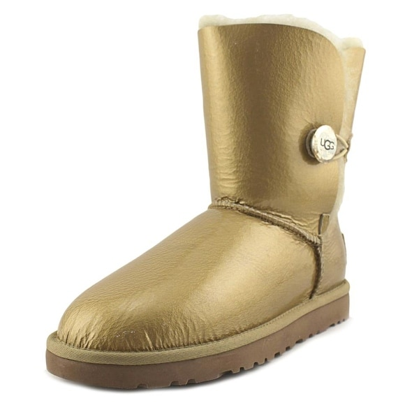 Ugg Australia Bailey Button Mirage Women Patent Leather Gold Winter Boot