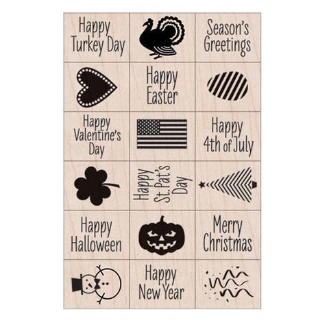 Ink 'n' Stamp A Year of Holidays Stamps, Set of 18 - One Size