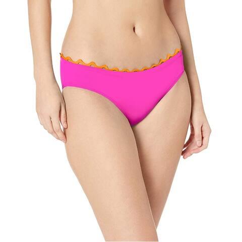 Anne Cole Women's Block Party Ric Rack Hipster Bikini Bottoms, Pink, XS