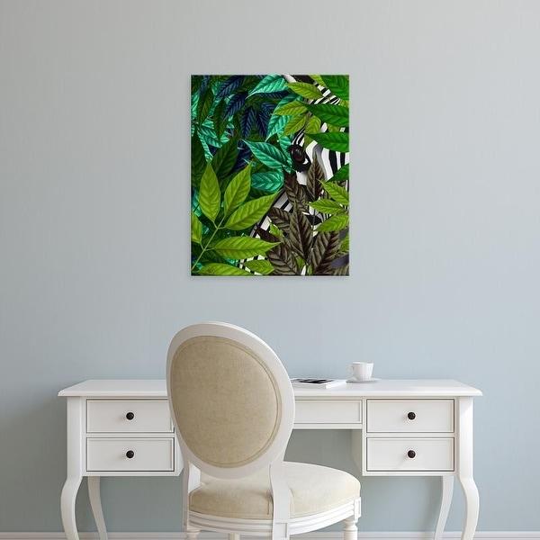 Easy Art Prints Fab Funky's 'Zebra in Green Leaves' Premium Canvas Art