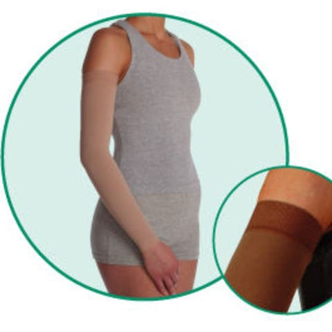 Juzo 2002Mxcglsb V Soft 2002Cg Armsleeve 30-40Mmhg With Silicone Top Band - Size- V - X-Large Length- L-Long Color-