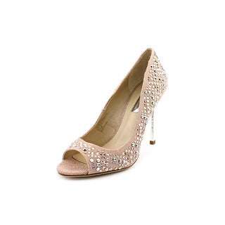 INC International Concepts Jema Peep-Toe Canvas Heels