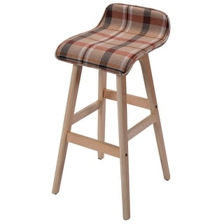 Costway 29-Inch Vintage Wood Bar Stool Dining Chair Counter Height Kitchen Bar