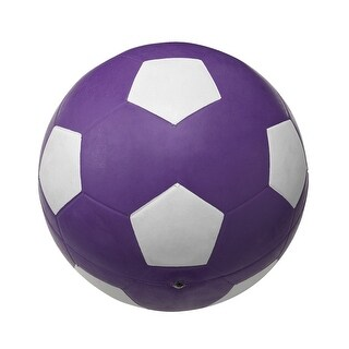School Smart No 4 Soccer Ball, Violet