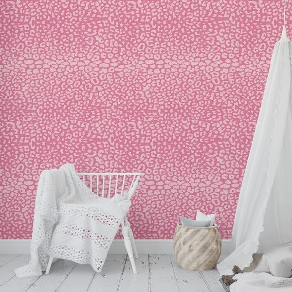 Shop Boho Animal Print Pink Peel And Stick Wallpaper By Kavka Designs 2 X 16 Overstock 31637992