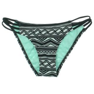 Bikini Nation Womens Printed Hipster Swim Bottom Separates - S
