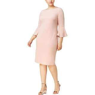 025f62f2ff6a Quick View.  36.99 -  59.99. Calvin Klein Womens Plus Party Dress Bell  Sleeve Shimmer