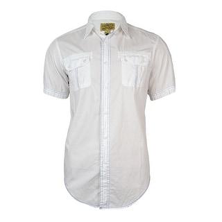 Cremieux Men's Contrast-Stitch Cotton Shirt