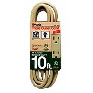 Coleman Cable 2865 Extension Cord, 10'