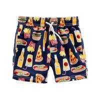 Carter's Baby Boys' Food Print Swim Trunks, 12 Months - multi