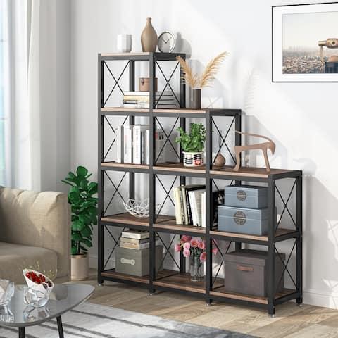 Etagere Bookcase, Industrial Ladder Corner BookshelfDisplay Shelf Storage Organizer