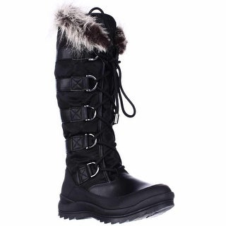 Guess Hadly Tall Lace Up Winter Boots - Black