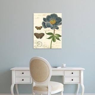 Easy Art Prints Vision Studio's 'Small Vintage Floral I' Premium Canvas Art