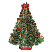 "Club Pack of 12 Christmas Tree 3-D Centerpiece Holiday Decorations 11.75"" - multi"