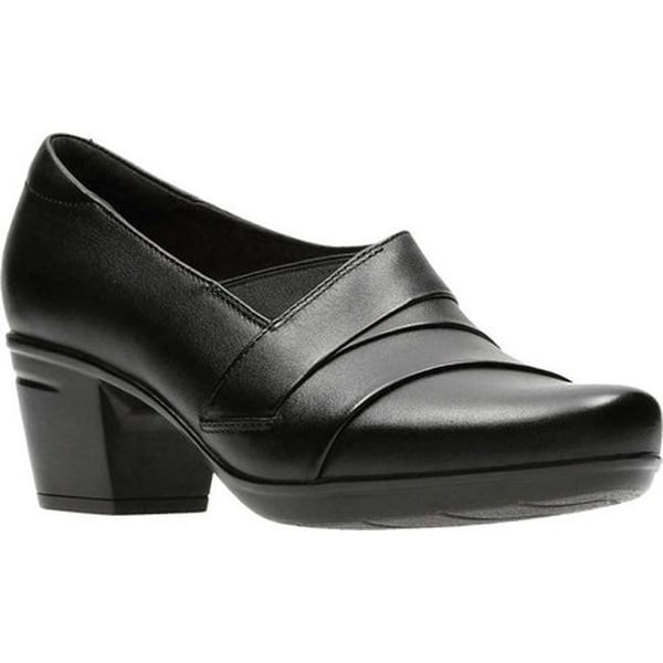 a6e832eba43 Shop Clarks Women s Emslie Warbler Bootie Black Full Grain Leather ...