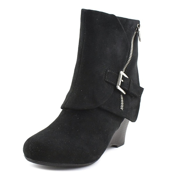 Unionbay Ryker Women Round Toe Synthetic Black Ankle Boot