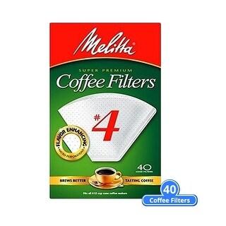 """Melitta 624404 #4 White Cone Coffee Filters 40 Counts (Single Pack) White Cone Coffee Filters 40 Counts"""