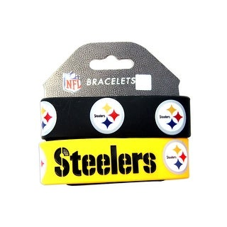 Pittsburgh Steelers Rubber Wrist Band Set