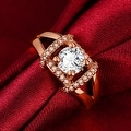 Jewel Lined Rose Gold Ring - Thumbnail 2