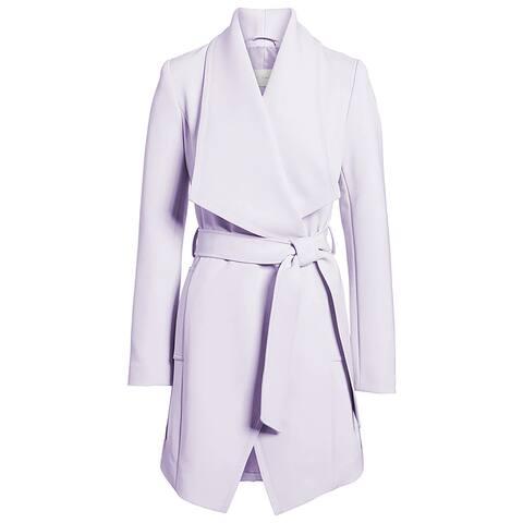 Tahari Womens Wrap Coat, S, Purple