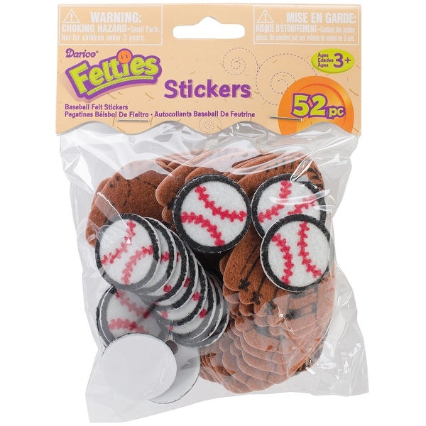 Felties Stickers 52/Pkg-Baseball