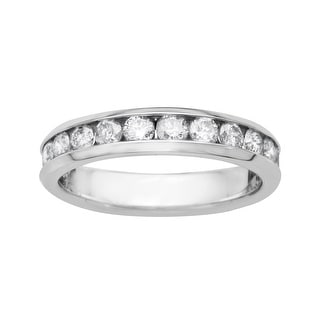 1 ct Diamond Anniversary Band in 14K White Gold
