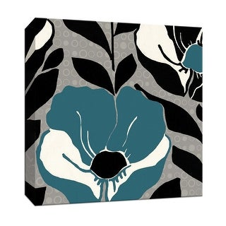 """PTM Images 9-152564  PTM Canvas Collection 12"""" x 12"""" - """"Poppy love III Blue"""" Giclee Poppies Art Print on Canvas"""