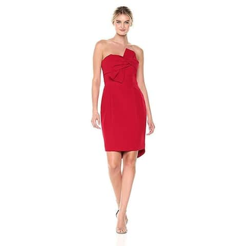 Adelyn Rae Women's Harper Woven Tube Dress, Rouge, Sz: L