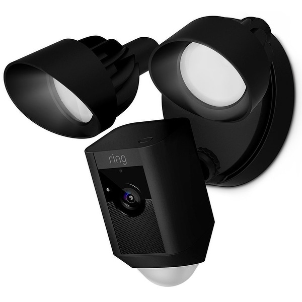 Ring 8SF1P7-BEN0 Motion-Activated HD Security Camera With Floodlight - Black