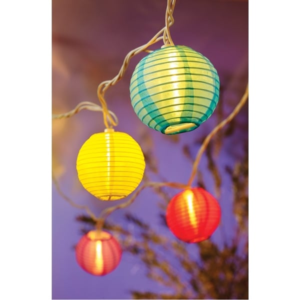Living Accents 624FV11C Round Color Lanterns Light Set, 10 Lights, 7.5'