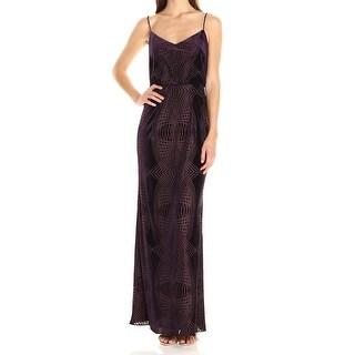 Adrianna Papell NEW Purple Womens Size 8 Velvet Blouson Sheath Dress