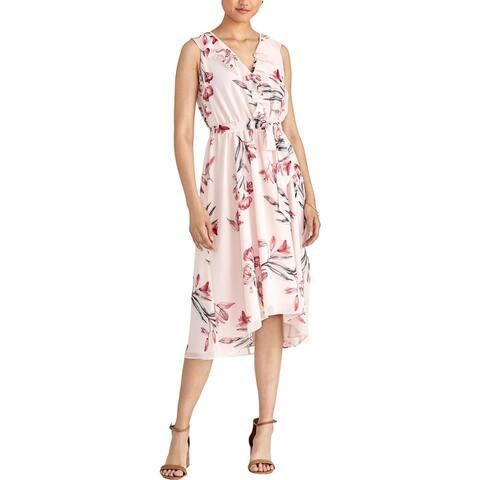 Rachel Rachel Roy Womens Odele Wear to Work Dress Printed Ruffled
