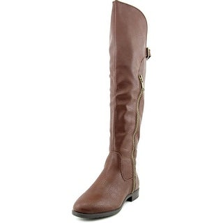 Rialto First Row Women Pointed Toe Synthetic Brown Over the Knee Boot